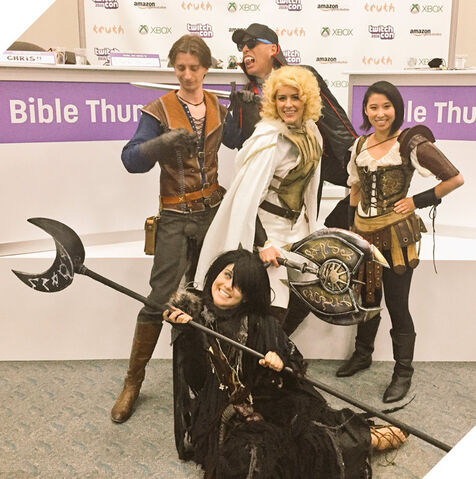 File:Main Cast Cosplaying with Guest.jpg