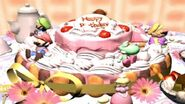 Peach's Birthday Cake Scene