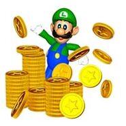 Luigi with Coins 2