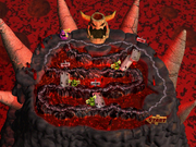 Bowser's Magma Mountain Map