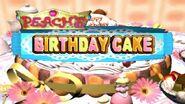 Peach's Birthday Cake Logo