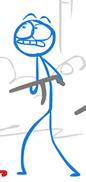 Blue with his gun 2