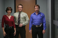DHS- Janine Turner, Judson Mills and Chuck Norris in WTR Trial by Fire movie