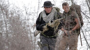 DHS- Thomas Beckett (Tom Berenger) and son in Sniper Legacy
