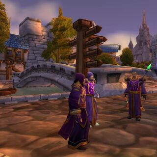 Nach der Untersuchung der Altstadt besprechen sich die Magier