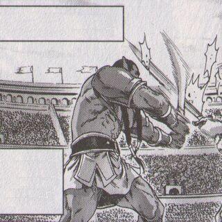 Thrall als Gladiator.