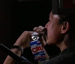 Uli eating a Crunch Bar
