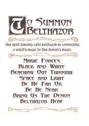 To Summon Belthzor