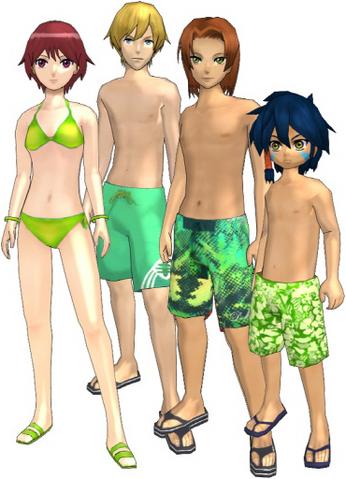 "File:Marcus Damon, Thomas H. Norstein, Yoshino ""Yoshi"" Fujieda, and Keenan Crier (Green Swimsuits) dm.png"