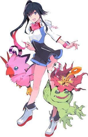 File:Shiki, Biyomon, and Palmon (next 0rder) b.jpg
