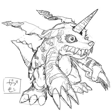 File:Digimon World Re-Digitize Gabumon concept art.jpg