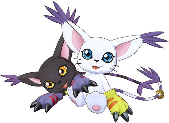 File:Gatomon and BlackGatomon (Cyber Sleuth) b.jpg