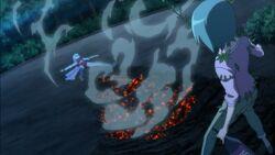Hayate defeated by Yukiji