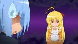 Hayate reminded about his bad luck