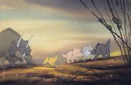 Original (3) storyboard paintings from The Land Before Time. Lot 63 1