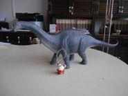 Babbo Natale e l'apatosauro