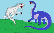 Indominus rex vs apatosaurus by avispaneitor-d8yipgx