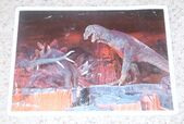 Primeval World T-Rex and Stegosaurus card front