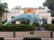 Aladar statue at animal kingdom