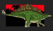 Jurassic Park stegosaurus updated 2014 by hellraptor-d1u9o0s