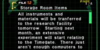 Storage Room Items