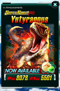 Super Rare Yutyrannus