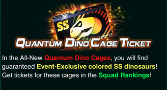 Quantum Dino Cage Ticket