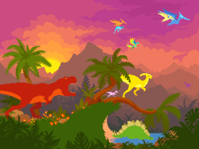 Dino run tribute by bosscrab-d2651wd