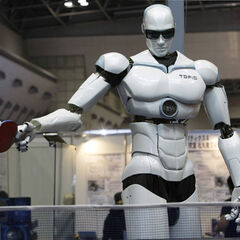 Ping-pong was a favorite game amongst peace-loving robots