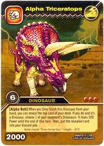 Triceratops Alpha TCG Card