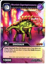 Gigantspinosaurus-Mountain TCG Card 2-Collosal (German)