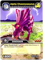 Chasmosaurus Alpha TCG Card 1
