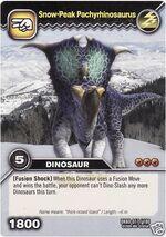 Pachyrhinosaurus-Snow-Peak TCG Card