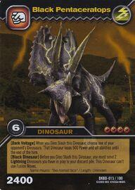 Pentaceratops Black TCG Card (foreign)