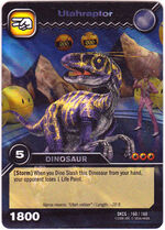 Utahraptor TCG Card.
