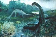Illustrazione di Brontosauro