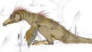 Sitting velociraptor
