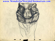 Drawing of T-rex face
