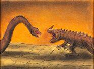 Fantasia Rite of Spring Ceratosaurus Concept Art (Walt Disney, 1940).
