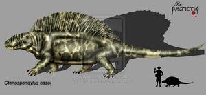 Ctenospondylus casei by Theropsida