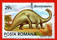 Romania1993-029L-brontosaurus-L