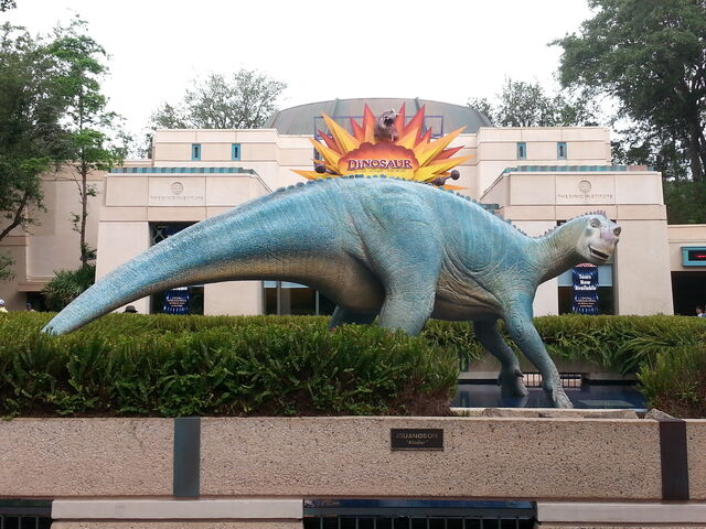 File:Aladar statue at animal kingdom.jpg