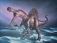 Spinosaurus in a lake