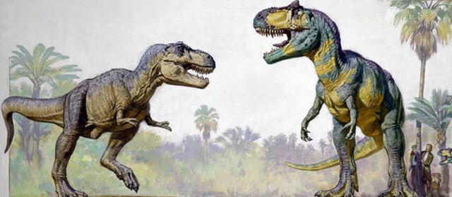 File:T-rex vs gigantosaurus.jpg