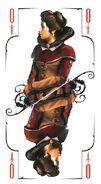 Tarot queen swords