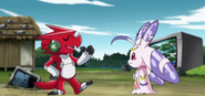 Shoutmon and Lunamon
