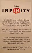 Mickey bag info