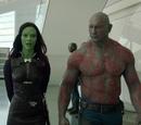 Drax and Gamora