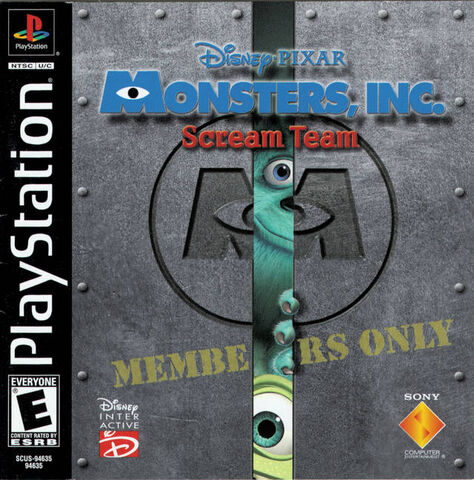 File:Monsters Inc Scream Team for Sony PlayStation One.jpeg