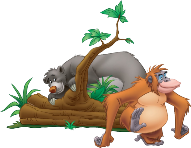 File:Baloo behind a tree with Louie.png